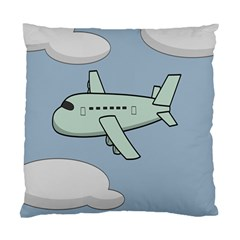 Airplane Fly Cloud Blue Sky Plane Jpeg Standard Cushion Case (two Sides)