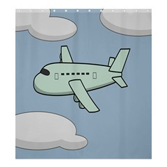 Airplane Fly Cloud Blue Sky Plane Jpeg Shower Curtain 66  X 72  (large)