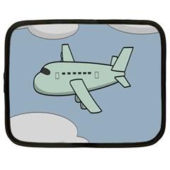 Airplane Fly Cloud Blue Sky Plane Jpeg Netbook Case (xl)