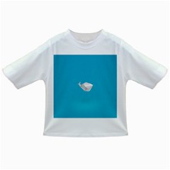 Animals Whale Blue Origami Water Sea Beach Infant/toddler T Shirts