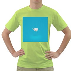 Animals Whale Blue Origami Water Sea Beach Green T Shirt