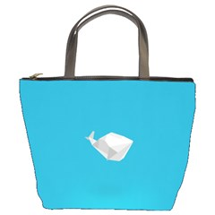 Animals Whale Blue Origami Water Sea Beach Bucket Bags