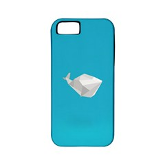 Animals Whale Blue Origami Water Sea Beach Apple Iphone 5 Classic Hardshell Case (pc+silicone)