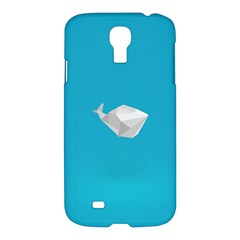Animals Whale Blue Origami Water Sea Beach Samsung Galaxy S4 I9500/i9505 Hardshell Case