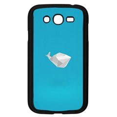 Animals Whale Blue Origami Water Sea Beach Samsung Galaxy Grand Duos I9082 Case (black)