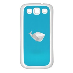 Animals Whale Blue Origami Water Sea Beach Samsung Galaxy S3 Back Case (white)