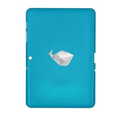 Animals Whale Blue Origami Water Sea Beach Samsung Galaxy Tab 2 (10 1 ) P5100 Hardshell Case