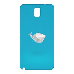 Animals Whale Blue Origami Water Sea Beach Samsung Galaxy Note 3 N9005 Hardshell Back Case