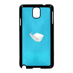 Animals Whale Blue Origami Water Sea Beach Samsung Galaxy Note 3 Neo Hardshell Case (black)