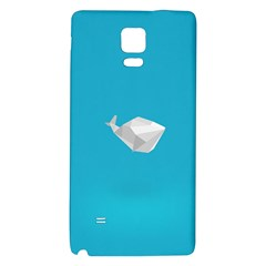 Animals Whale Blue Origami Water Sea Beach Galaxy Note 4 Back Case