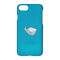Animals Whale Blue Origami Water Sea Beach Apple Iphone 7 Hardshell Case