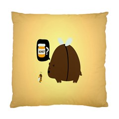 Bear Meet Bee Honey Animals Yellow Brown Standard Cushion Case (one Side)