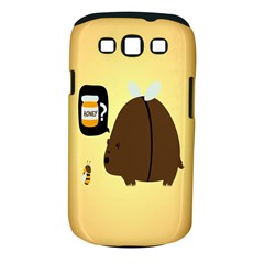 Bear Meet Bee Honey Animals Yellow Brown Samsung Galaxy S Iii Classic Hardshell Case (pc+silicone)