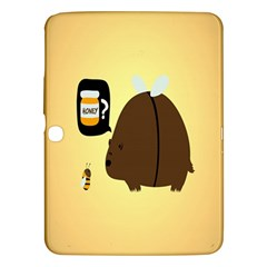 Bear Meet Bee Honey Animals Yellow Brown Samsung Galaxy Tab 3 (10 1 ) P5200 Hardshell Case