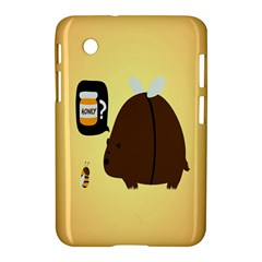 Bear Meet Bee Honey Animals Yellow Brown Samsung Galaxy Tab 2 (7 ) P3100 Hardshell Case