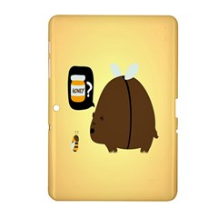 Bear Meet Bee Honey Animals Yellow Brown Samsung Galaxy Tab 2 (10 1 ) P5100 Hardshell Case