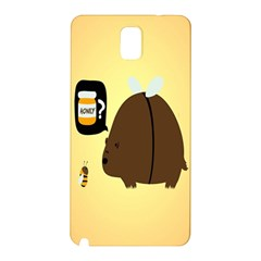 Bear Meet Bee Honey Animals Yellow Brown Samsung Galaxy Note 3 N9005 Hardshell Back Case