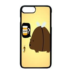 Bear Meet Bee Honey Animals Yellow Brown Apple Iphone 7 Plus Seamless Case (black)