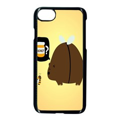 Bear Meet Bee Honey Animals Yellow Brown Apple Iphone 7 Seamless Case (black)
