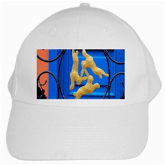 Animal Hare Window Gold White Cap