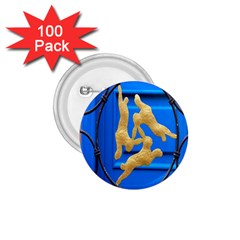 Animal Hare Window Gold 1.75  Buttons (100 pack)