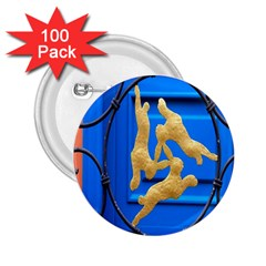 Animal Hare Window Gold 2.25  Buttons (100 pack)