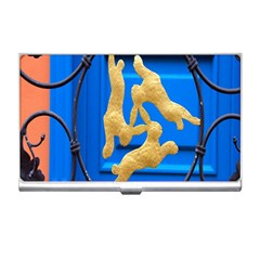 Animal Hare Window Gold Business Card Holders