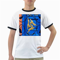 Animal Hare Window Gold Ringer T-Shirts