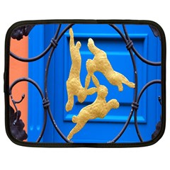 Animal Hare Window Gold Netbook Case (Large)