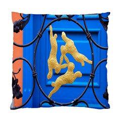 Animal Hare Window Gold Standard Cushion Case (Two Sides)