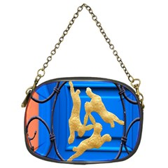 Animal Hare Window Gold Chain Purses (Two Sides)