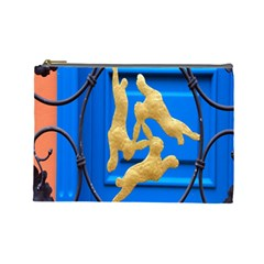 Animal Hare Window Gold Cosmetic Bag (Large)