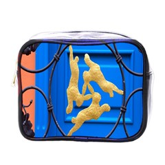 Animal Hare Window Gold Mini Toiletries Bags