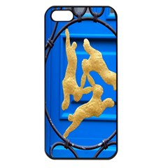 Animal Hare Window Gold Apple Iphone 5 Seamless Case (black)