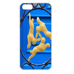 Animal Hare Window Gold Apple iPhone 5 Seamless Case (White)
