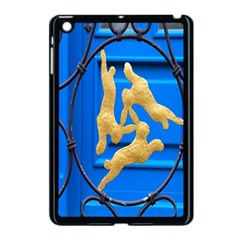 Animal Hare Window Gold Apple iPad Mini Case (Black)
