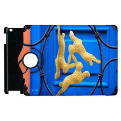 Animal Hare Window Gold Apple Ipad 3/4 Flip 360 Case