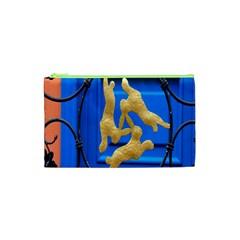 Animal Hare Window Gold Cosmetic Bag (xs)