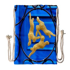 Animal Hare Window Gold Drawstring Bag (Large)