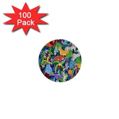Animated Safari Animals Background 1  Mini Buttons (100 pack)