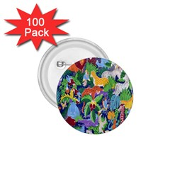 Animated Safari Animals Background 1.75  Buttons (100 pack)
