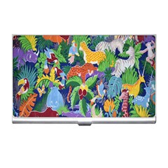 Animated Safari Animals Background Business Card Holders