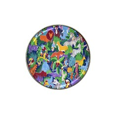 Animated Safari Animals Background Hat Clip Ball Marker