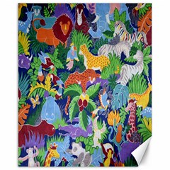 Animated Safari Animals Background Canvas 16  X 20
