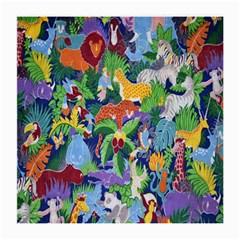 Animated Safari Animals Background Medium Glasses Cloth