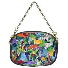 Animated Safari Animals Background Chain Purses (Two Sides)