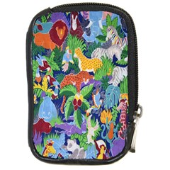 Animated Safari Animals Background Compact Camera Cases