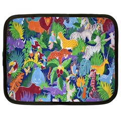Animated Safari Animals Background Netbook Case (XXL)