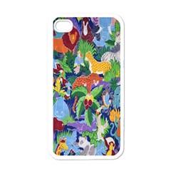 Animated Safari Animals Background Apple iPhone 4 Case (White)