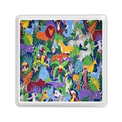 Animated Safari Animals Background Memory Card Reader (Square)